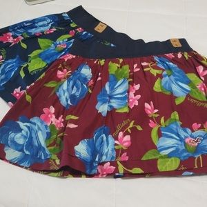 Hollister summer floral mini skirts